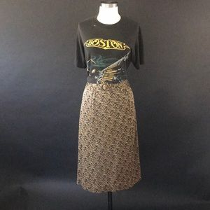 Vintage Small skirt with gold lurex thread Small
